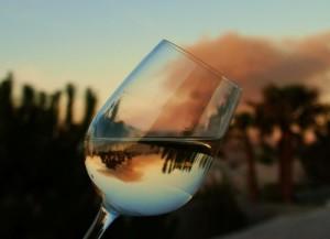wineglass reflection